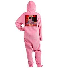 health nut santa Footed Pajamas