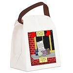 health nut santa Canvas Lunch Bag