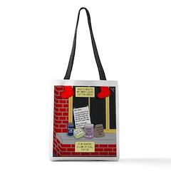 health nut santa Polyester Tote Bag