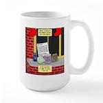 health nut santa 15 oz Ceramic Large Mug