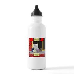 health nut santa Water Bottle