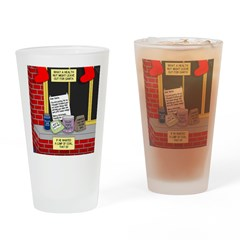 health nut santa Drinking Glass