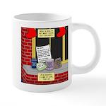 health nut santa 20 oz Ceramic Mega Mug