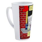 health nut santa 17 oz Latte Mug
