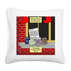 health nut santa Square Canvas Pillow