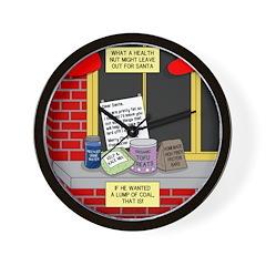 health nut santa Wall Clock