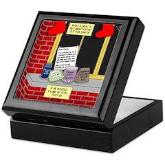 health nut santa Keepsake Box