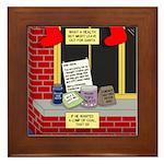 health nut santa Framed Tile