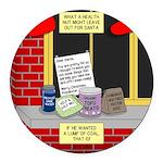 health nut santa Round Car Magnet
