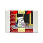 health nut santa Rectangle Magnet (100 pack)