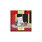 health nut santa 35x21 Wall Decal