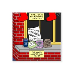 health nut santa Square Sticker 3