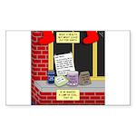 health nut santa Sticker (Rectangle 50 pk)