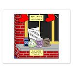 health nut santa Small Poster