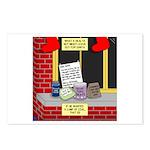 health nut santa Postcards (Package of 8)