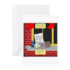 health nut santa Greeting Cards (Pk of 10)