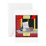 health nut santa Greeting Cards (Pk of 20)