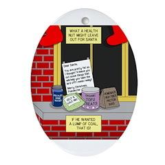 health nut santa Oval Ornament