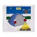 Christmas Campout Throw Blanket