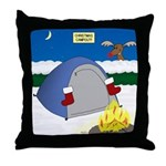 Christmas Campout Throw Pillow