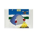 Christmas Campout Rectangle Magnet (100 pack)