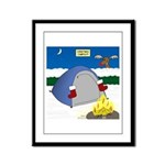 Christmas Campout Framed Panel Print