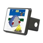 Christmas Campout Rectangular Hitch Cover
