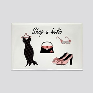 Shop-a-holic Rectangle Magnet