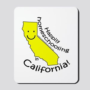 Happy in CA Mousepad