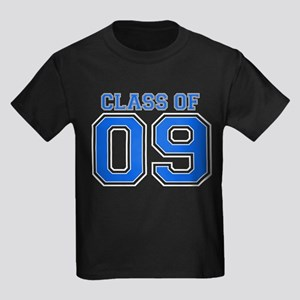 Class Of 09 (Blue Varsity) Kids Dark T-Shirt