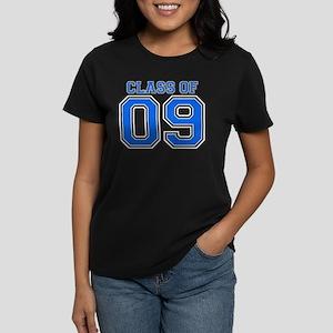 Class Of 09 (Blue Varsity) Women's Dark T-Shirt