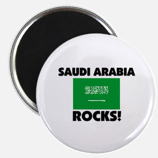 Saudi Arabia Rocks Magnet