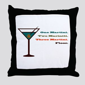 Martini Countdown Throw Pillow