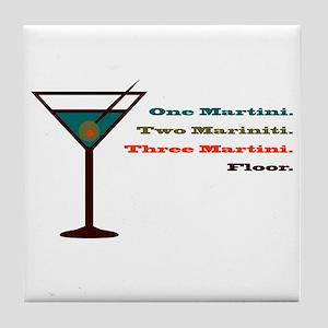 Martini Countdown Tile Coaster
