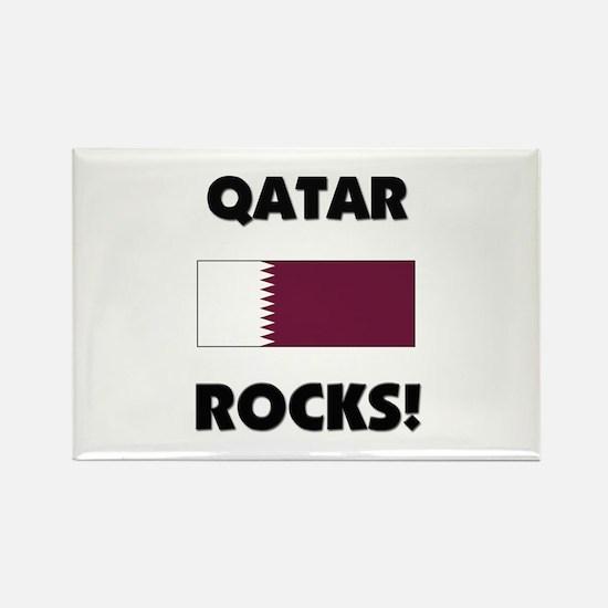 Qatar Rocks Rectangle Magnet