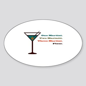 Martini Countdown Oval Sticker