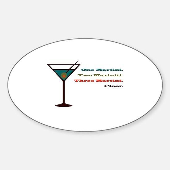 Martini Countdown Oval Decal