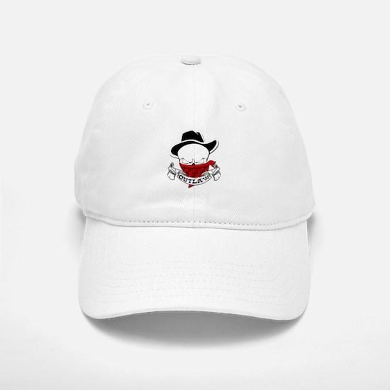 Outlaw Skull Baseball Baseball Cap