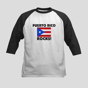 Puerto Rico Rocks Kids Baseball Jersey