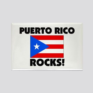 Puerto Rico Rocks Rectangle Magnet