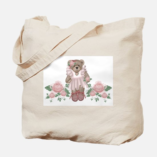 Beary Rosy Tote Bag