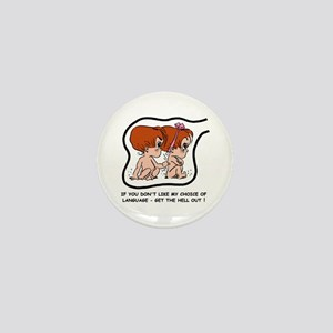 Redhead EGGBERT Get Out Mini Button