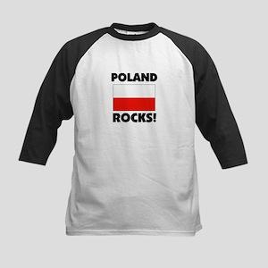 Poland Rocks Kids Baseball Jersey