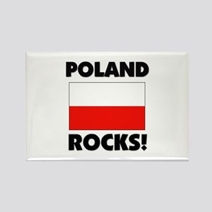 Poland Rocks Rectangle Magnet