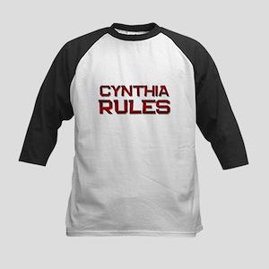 cynthia rules Kids Baseball Jersey