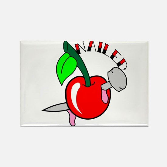 Tattoo Cherry Nailed Rectangle Magnet