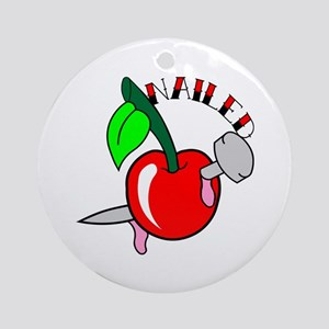 Tattoo Cherry Nailed Ornament (Round)