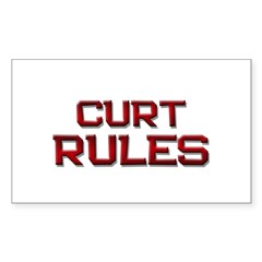 curt rules Rectangle Decal