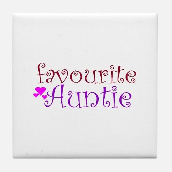 Favourite Auntie Tile Coaster