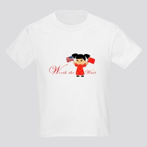 'Worth the Wait' China Adoption Kids Light T-Shirt